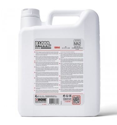 Huile IPONE R4000 RS 10W40 4T - 4 Litres