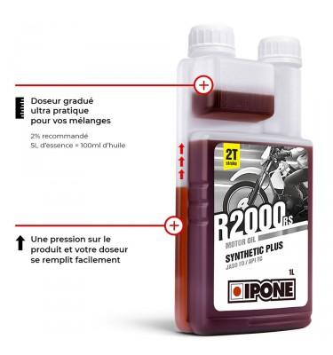 Huile IPONE R2000 RS 2T - Senteur Fraise - 1 Litre