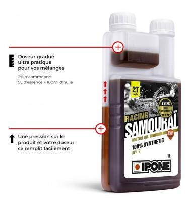 Huile IPONE Racing Samouraï 2T - Senteur Fraise - 1 Litre