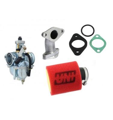 Pack carburateur MIKUNI 26 / UNI - Pipe droite