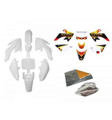 Pack déco ROCKSTAR ENERGY - CRF50 - Blanc