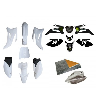 Pack déco MONSTER ENERGY - TTR110 - Blanc