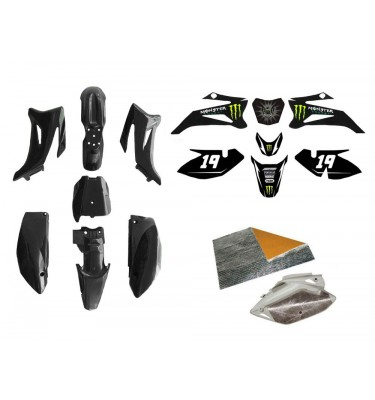 Pack déco MONSTER ENERGY - TTR110 - Noir