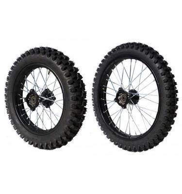 "Pack roues 17/14"" - 15mm - Acier"