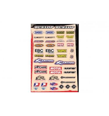 Planche stickers - Multi logos - Kit B - FLU DESIGNS