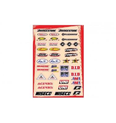 Planche stickers - Multi logos - Kit C - FLU DESIGNS