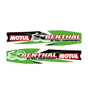 Stickers de bras oscillant - RENTHAL/MOTUL - Vert
