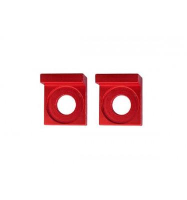 Tendeurs de chaîne alu carré - 12mm - Rouge