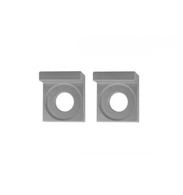 Tendeurs de chaîne alu carré - 12mm - Silver