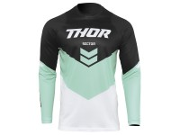 Maillot cross adulte THOR Sector Chev - Noir / Mint