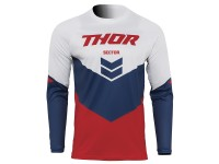 Maillot cross adulte THOR Sector Chev - Rouge / Navy