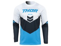 Maillot cross adulte THOR Sector Chev - Bleu / Midnight