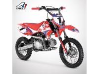 Dirt Bike APOLLO RFZ ROOKIE 125 Semi-Auto 14/12 - 2021 - Rouge
