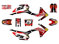 Kit déco GUNSHOT - Type CRF110 - Rouge