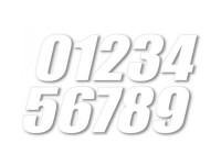 Numéro de course - 10cm - BUD RACING - Blanc (x3)