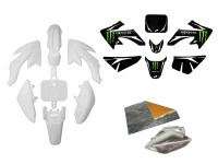 Pack déco ONE / MONSTER - CRF50 - Blanc