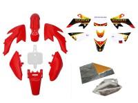 Pack déco ROCKSTAR ENERGY - CRF50 - Rouge