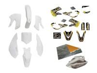 Pack déco APOLLO/BUD/ROCKSTAR - KLX110 - Blanc