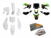 Pack déco MONSTER ENERGY - KLX110 - Blanc