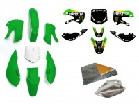 Pack déco MONSTER ENERGY - KLX110 - Vert
