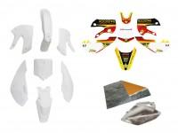 Pack déco ROCKSTAR - KLX110 - Blanc