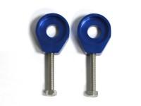 Tendeurs de chaîne alu rond - 12/6mm - Bleu