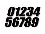 Numéro de course - 10cm - BUD RACING - Noir (x3)