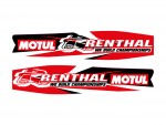 Stickers - RENTHAL/MOTUL - Rouge
