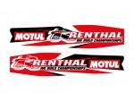 Stickers de bras oscillant - RENTHAL/MOTUL - Rouge