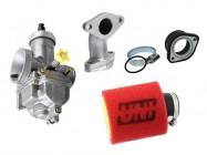 Pack carburateur KEIHIN PE28 / UNI - Pipe droite