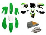 Pack déco MONSTER ENERGY - KLX110 - Vert