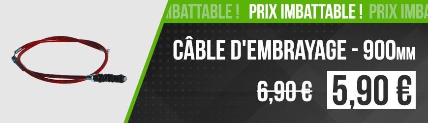 Prix Imbattable ! - Câble d'embrayage 900mm à 5,90€