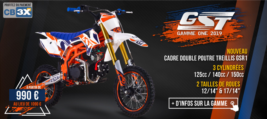 Gamme Moto Dirt Bike GST ONE 2019