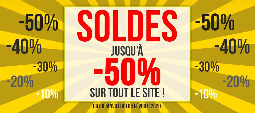 MONSTER SOLDES - Jusqu'à -50% sur tout le site !