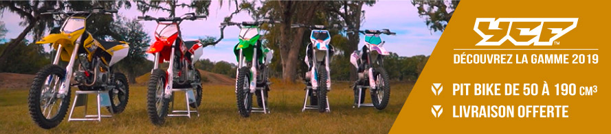 Gamme 2018 YCF - Dirt Bike / Pit Bike de 50 à 190cc