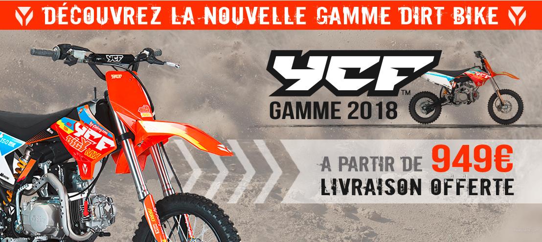 Gamme Moto Dirt Bike YCF 2018